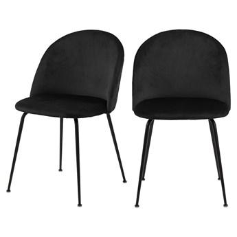 SELSEY Zestaw dwóch krzeseł tapicerowanych Pulasan czarne