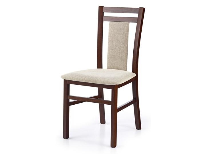 SELSEY Krzesło Dekani ciemny orzech Drewno Tkanina Tapicerowane Kolor Czarny