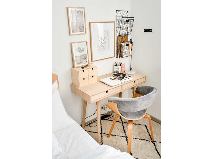 SELSEY Krzesło tapicerowane Asarlo szary welur na klonowych nogach Drewno Tkanina Kategoria Krzesła kuchenne Płyta MDF Pomieszczenie Jadalnia
