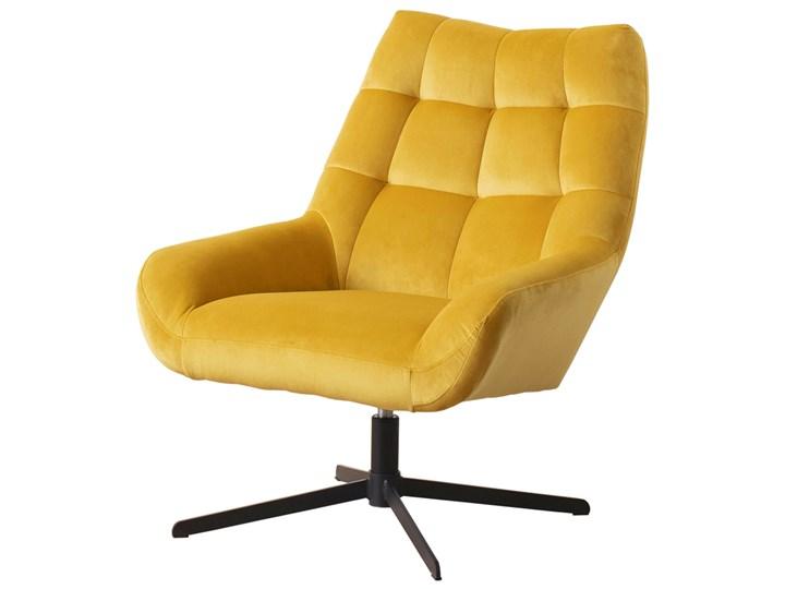 SELSEY Fotel obrotowy Sherley żółty Fotel pikowany Styl Nowoczesny Metal Tkanina Pomieszczenie Biuro i pracownia