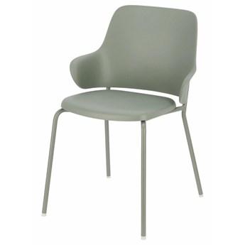 SELSEY Krzesło z tworzywa Qedivar na metalowych nogach