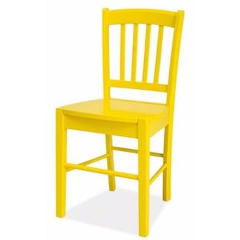 SELSEY Krzesło Bergen żółte