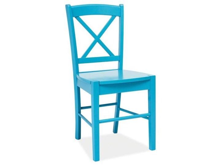 SELSEY Krzesło Svene niebieskie Krzesło inspirowane Kategoria Krzesła kuchenne Drewno Kolor Turkusowy