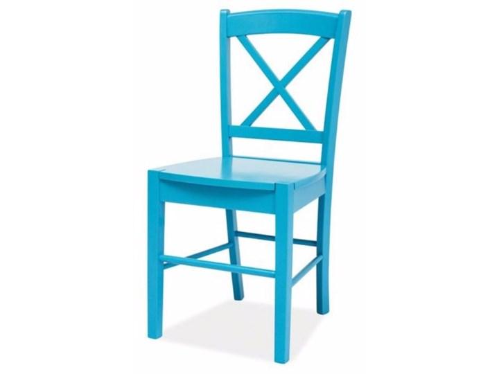 SELSEY Krzesło Svene niebieskie Drewno Krzesło inspirowane Kolor Turkusowy Kategoria Krzesła kuchenne