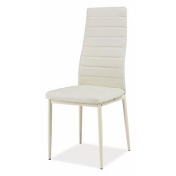 SELSEY Krzesło tapicerowane Lastad kremowe