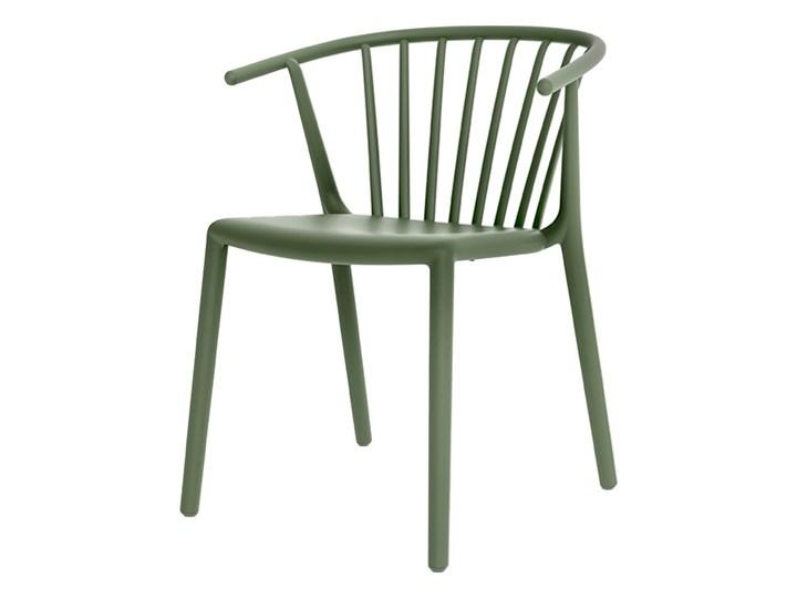 SELSEY Krzesło Woody zielone Tworzywo sztuczne Wysokość 75 cm Krzesło inspirowane Styl Nowoczesny Styl Vintage
