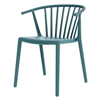 SELSEY Krzesło Woody niebieskie