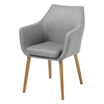 SELSEY Krzesło tapicerowane Marcelio jasnoszare