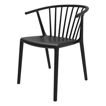SELSEY Krzesło Woody czarne