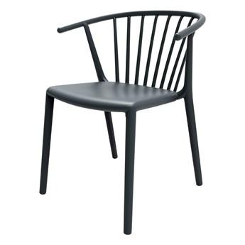 SELSEY Krzesło Woody ciemno szare