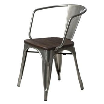 SELSEY Krzesło Paris Arms Wood metaliczne sosna szczotkowana