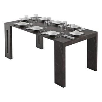 SELSEY Włoski stół rozkładany Roma marmur czarny