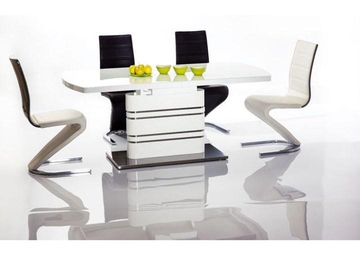 SELSEY Stół rozkładany Amager 180-240x90 cm Długość 180 cm  Długość 240 cm Wysokość 76 cm Stal Szkło Płyta MDF Styl Nowoczesny