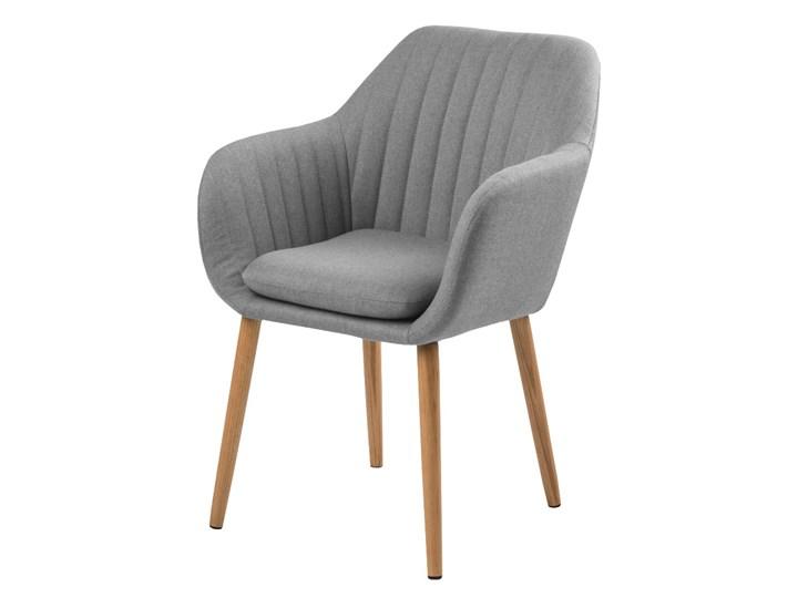 SELSEY Krzesło tapicerowane Enyf szare jasne na drewnianych nogach Drewno Kategoria Krzesła kuchenne Tkanina Styl Glamour