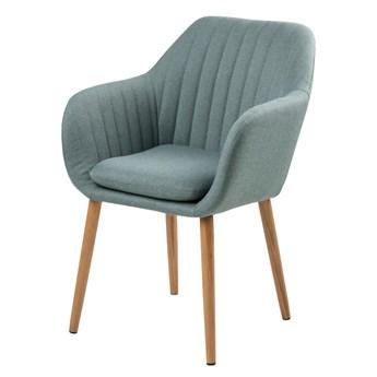 SELSEY Krzesło tapicerowane Enyf cadet na drewnianej podstawie