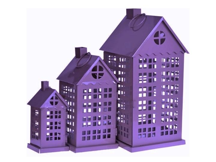 SELSEY Komplet trzech latarenek City Lampion Kategoria Świeczniki i świece