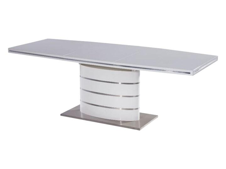 SELSEY Stół rozkładany Vaster 160-220x90 cm biały Długość 220 cm Długość 160 cm  Wysokość 77 cm Płyta MDF Szerokość 160 cm Stal Styl Nowoczesny Pomieszczenie stoły biurowe