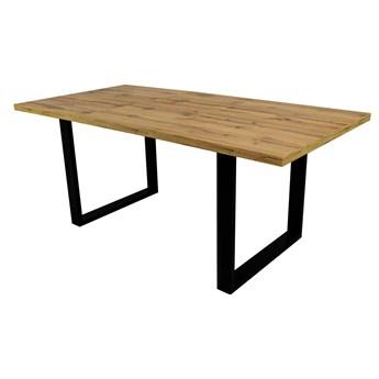 SELSEY Stół rozkładany Lameca 160-210x90 cm dąb wotan