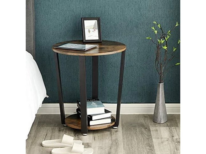SELSEY Stolik kawowy Ramizu średnica 50 cm Metal Wysokość 57 cm Kształt blatu Okrągłe