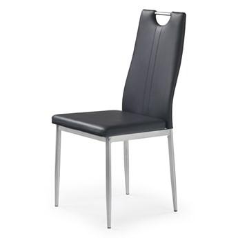 SELSEY Krzesło tapicerowane Gradna czarne