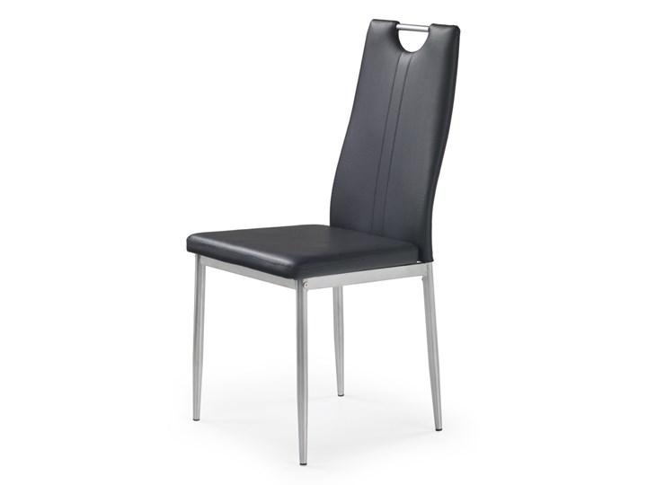 SELSEY Krzesło tapicerowane Gradna czarne Tkanina Metal Skóra ekologiczna Stal Styl Klasyczny