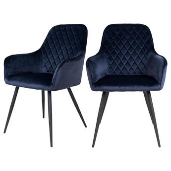 SELSEY Zestaw dwóch krzeseł tapicerowanych Rozates niebieskie