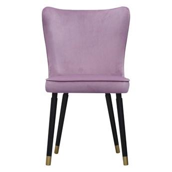 SELSEY Krzesło tapicerowane Colexio fioletowe