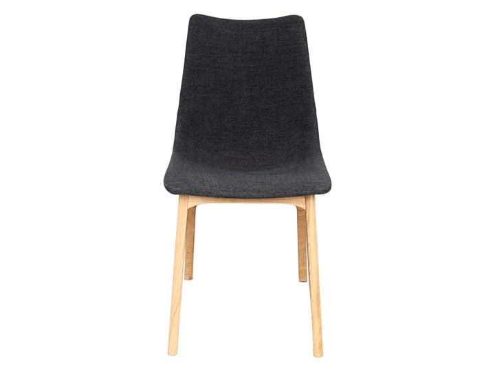 SELSEY Krzesło tapicerowane Chervil na drewnianych nóżkach Tkanina Drewno Płyta MDF Styl Industrialny