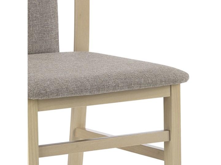 SELSEY Krzesło Dekani dąb sonoma Kolor Beżowy Tapicerowane Drewno Tkanina Kategoria Krzesła kuchenne