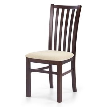 SELSEY Krzesło Andan ciemny orzech z beżowym siedziskiem