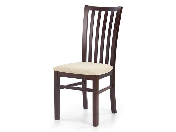 SELSEY Krzesło Andan ciemny orzech z beżowym siedziskiem Drewno Tapicerowane Tkanina Kategoria Krzesła kuchenne