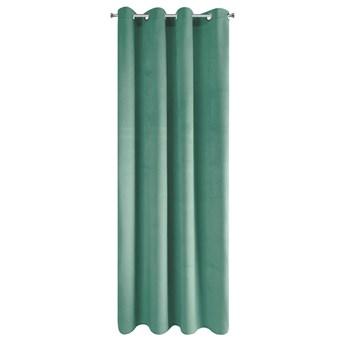 SELSEY Zasłona na przelotkach Faladi 140x250 cm zielona