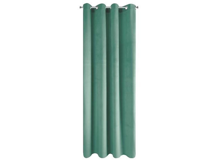 SELSEY Zasłona na przelotkach Faladi 140x250 cm zielona Poliester Kolor Zielony Pomieszczenie Sypialnia
