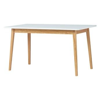 SELSEY Stół rozkładany Veneer 140-180x80 cm biały - dąb naturalny