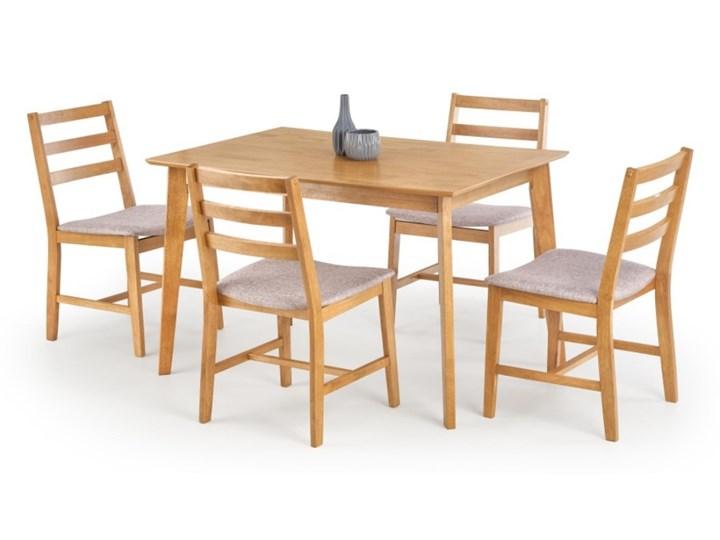 SELSEY Stół z krzesłami Ques jasny dąb Kolor Beżowy Pomieszczenie Jadalnia