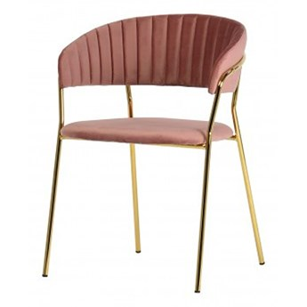 SELSEY Krzesło tapicerowane Abigan różowe