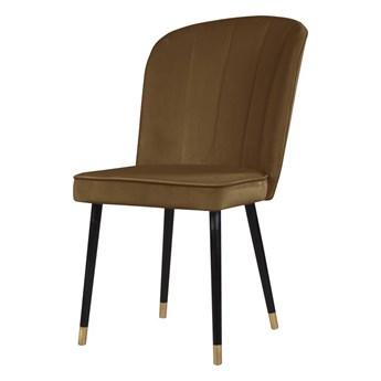 SELSEY Krzesło tapicerowane Guavra karmelowe