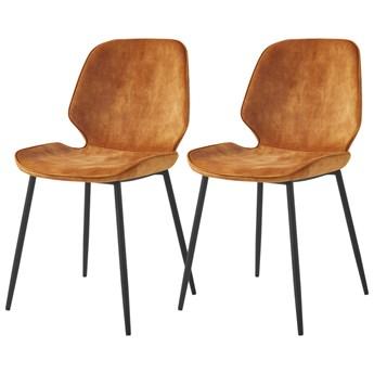 SELSEY Zestaw dwóch krzeseł Rablart żółte