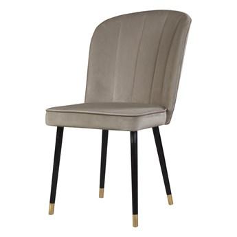 SELSEY Krzesło tapicerowane Guavra kremowe