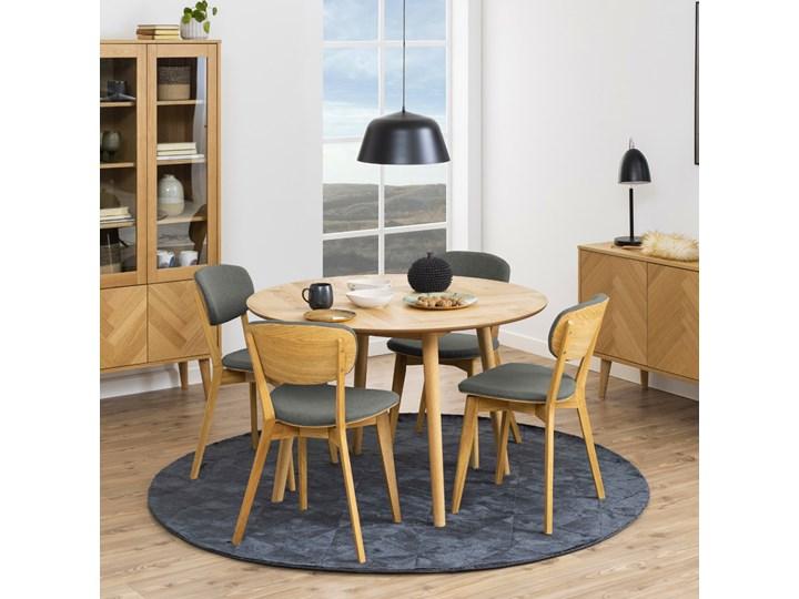 SELSEY Stół okrągły Forward średnica 120 cm Drewno Płyta MDF Wysokość 73 cm Wysokość 75 cm Długość 73 cm Kształt blatu Kwadratowy
