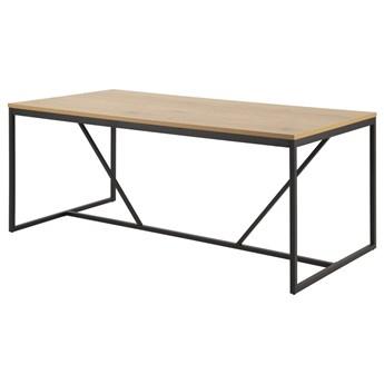 SELSEY Stół do jadalni Seaford na loftowej podstawie 180x90 cm