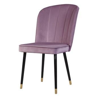 SELSEY Krzesło tapicerowane Guavra fioletowe