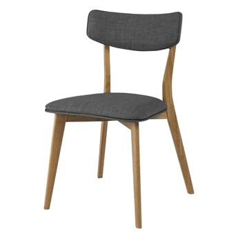 SELSEY Krzesło tapicerowane Nylar szare