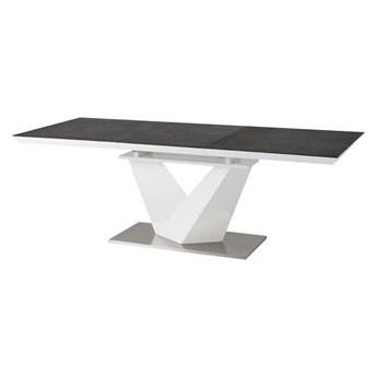 SELSEY Stół rozkładany Aramoko II 140-200x85 cm szaro - biały