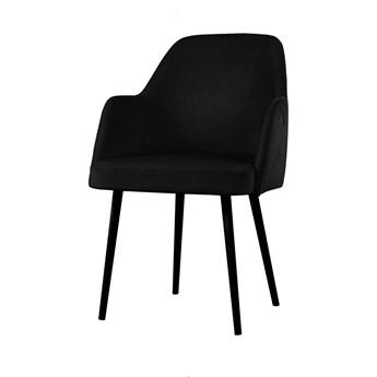 SELSEY Krzesło tapicerowane Kebbi czarne