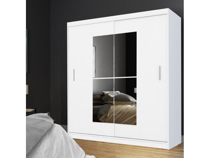 SELSEY Szafa Vaniva 180 cm z lustrem Tworzywo sztuczne Plastik Płyta laminowana Drewno Płyta MDF Pomieszczenie Garderoba