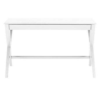 SELSEY Biurko Vagan 120x60 cm białe z szufladą