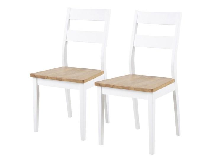 SELSEY Zestaw dwóch krzeseł Supetar białe Tradycyjne Drewno Kolor Biały
