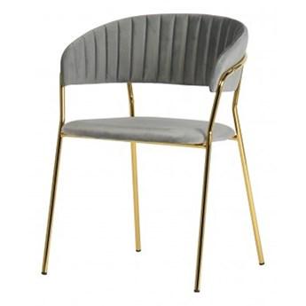 SELSEY Krzesło tapicerowane Abigan szare