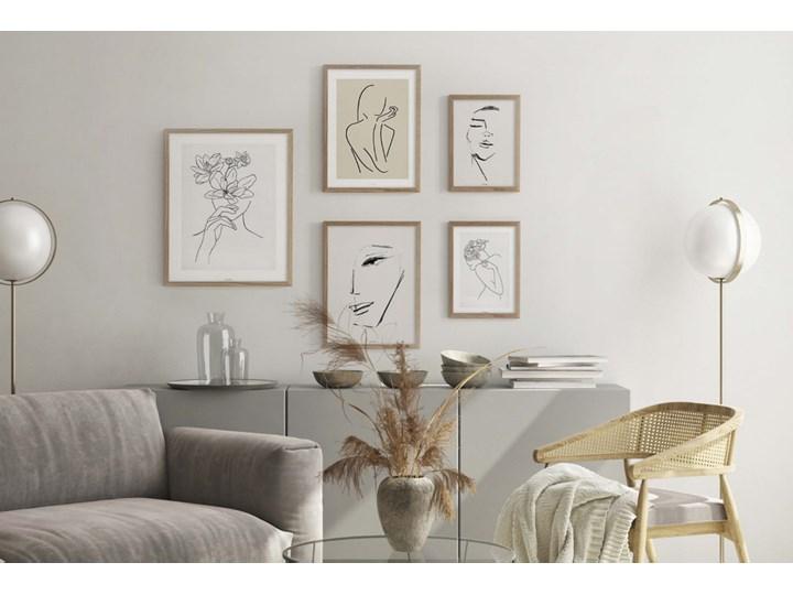 SELSEY Galeria pięciu obrazów na ścianę Droose z wyborem ramy Kategoria Obrazy Kolor Beżowy